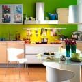 Интерьер кухни зеленого цвета