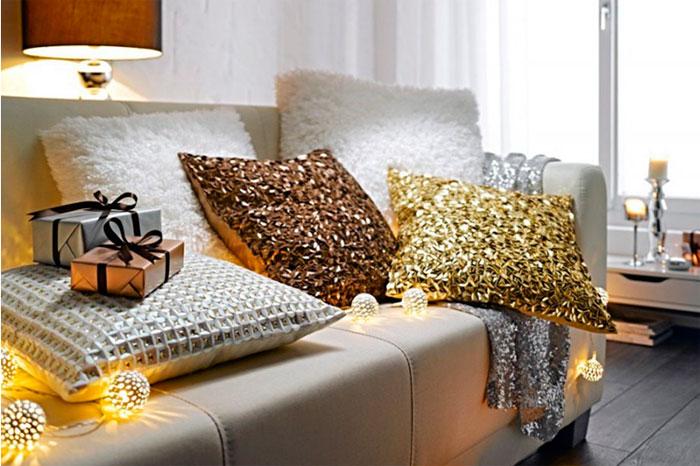 Замените в гостиной золото медными добавками