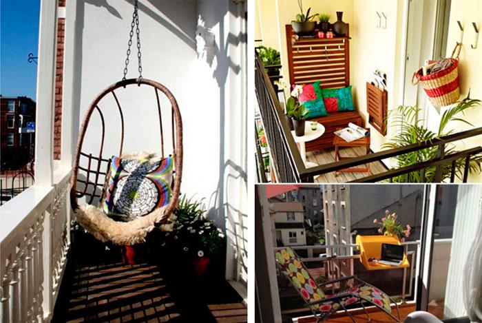 Дизайн и отделка маленького балкона