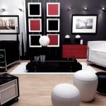 Фото интерьера в черно-белых цветах
