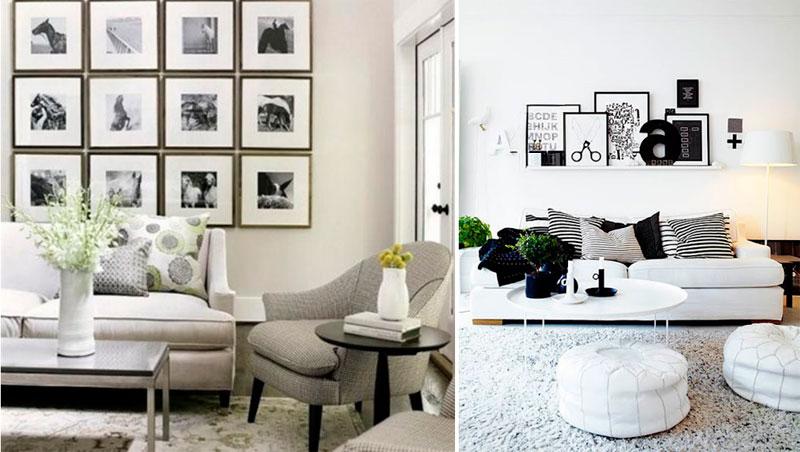 Черно-белое сочетание в интерьере и цветные добавки