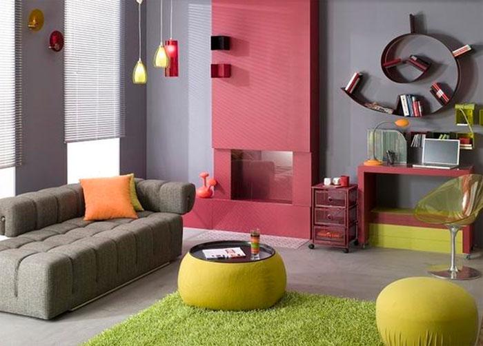 Серые цвета стен: с какими цветами сочетаются