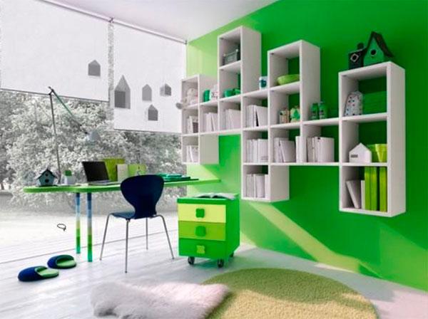 Детские комнаты много мебели