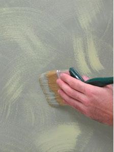 Покраска с использованием плоской кисти