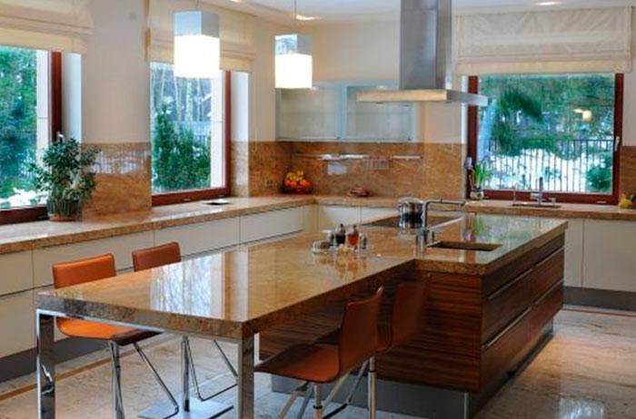 Столы из искусственного камня для кухни