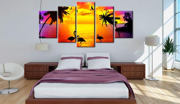 Картина в спальню над кроватью – как выбрать