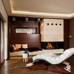 Коричневый интерьер гостиной