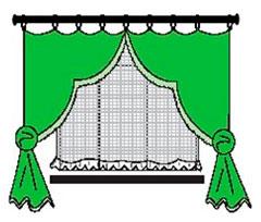 Короткие шторы в спальню до подоконника