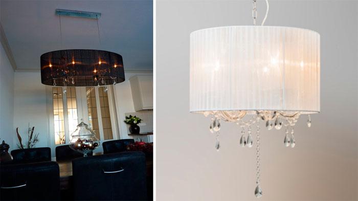 Светильники и люстры потолочные большие в интерьере