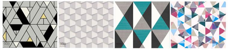 Геометрические обои с геометрическим рисунком для стен