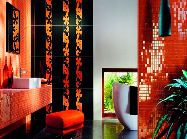 Сочетание оранжевого с другими цветами в интерьере