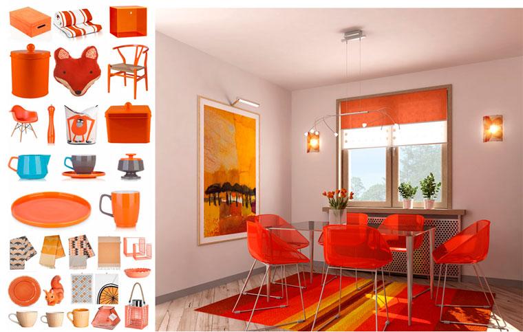 аксессуары оранжевого цвета