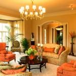 Сочетание цветов с оранжевым цветом в интерьере