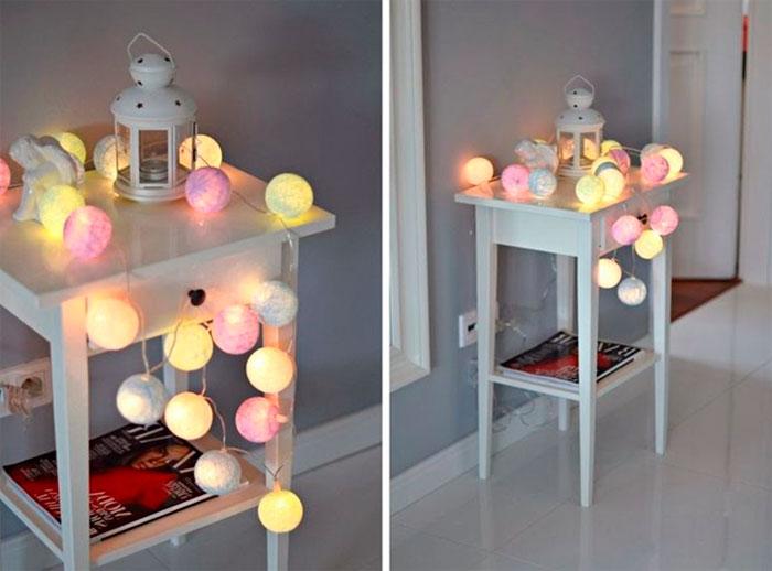 Сotton balls или светильник хлопковые шарики