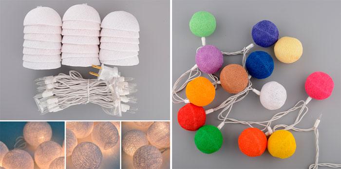 Как собрать светильник из шариков?