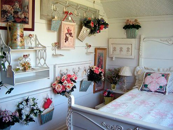 Спальня в стиле шебби шик, фото