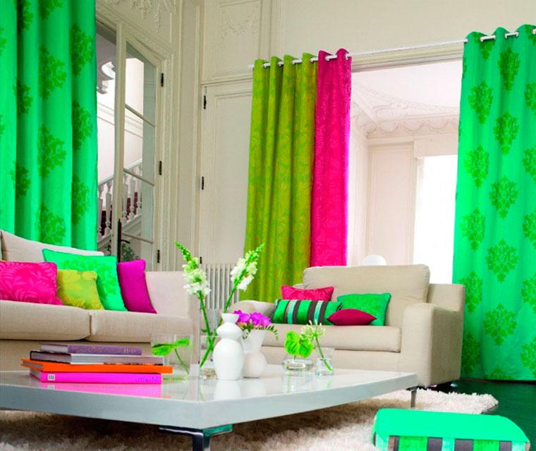 Зеленый интерьер – с чем гармонирует