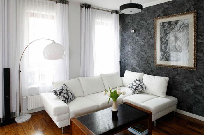 Белый текстиль – играем контрастами