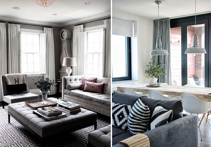 Серые шторы – хорошая идея?