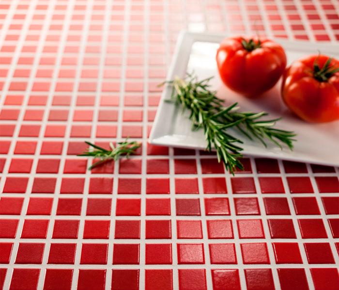 Выбор затирки для красной мозаики
