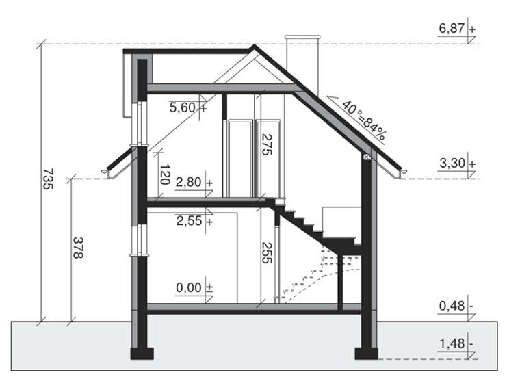 Узкие дома с гаражом - проект