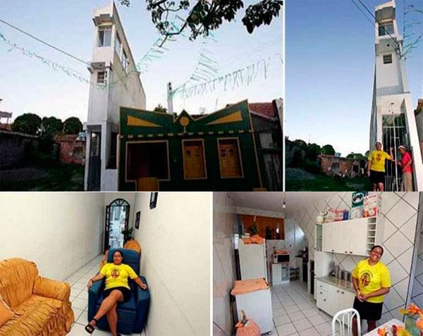 Дом шириной 1 метр в Бразилии