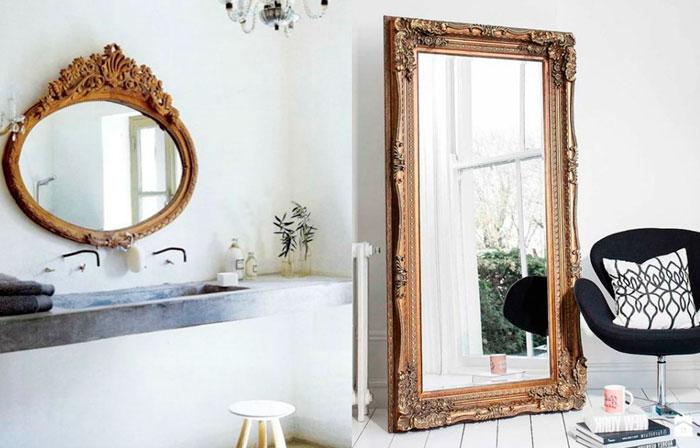 Расположение зеркала в интерьере и визуальные эффекты