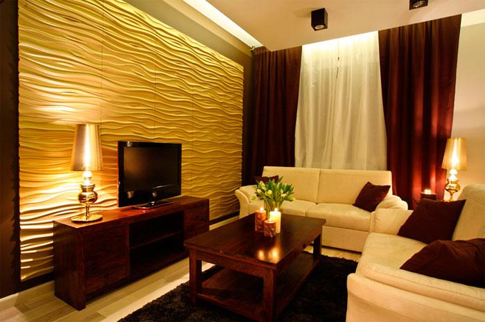 Классическая и современная гостиная желтого цвета