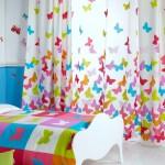 Бабочки в интерьере на стене в детской