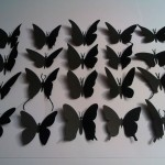 Декор стен бабочками
