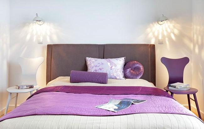 Мягкое освещение и высота бра в спальне