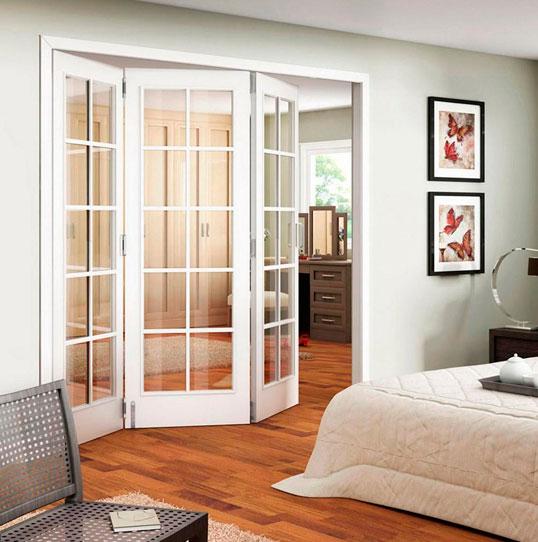 Типы и конструкции дверей гармошкой