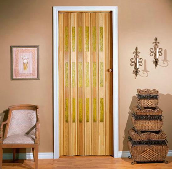 Двери-гармошка деревянные межкомнатные