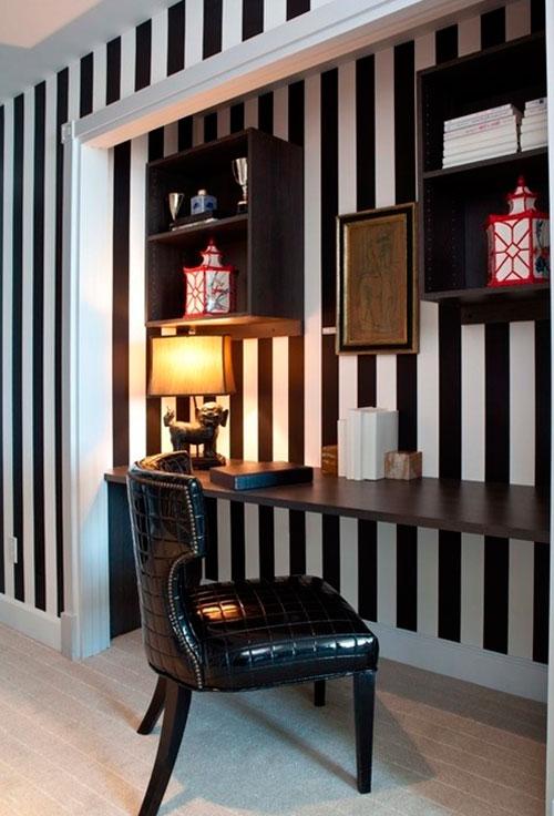 Яркий и узорчатый цвет стен будет отвлекать внимание
