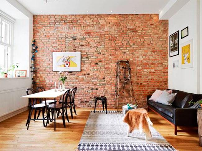 Кирпичные стены из плитки