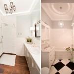Маленькая ванная с туалетом и светлые цвета стен