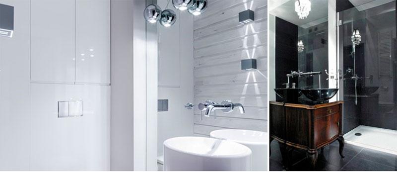 Зеркала в дизайне интерьера маленькой ванной комнаты
