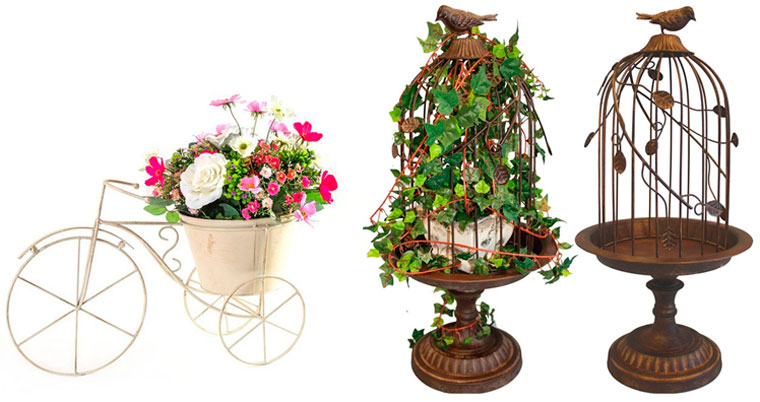 Напольная металлическая подставка для цветов