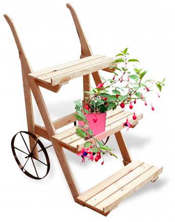 Напольная подставка для цветов на колесах
