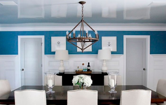 Блестящая краска или натяжной потолок