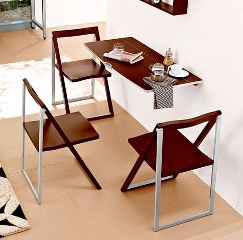 Складные стулья со спинкой на кухню