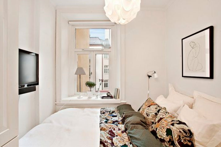 Спальня 7 кв. м. дизайн