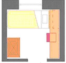 Маленькая спальня 6кв. м – варианты расположения мебели