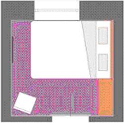 Спальня для пары 6 кв. м