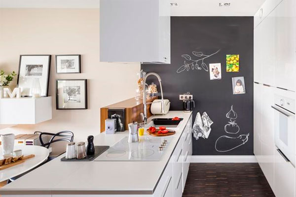 Магнитно-грифельная или магнитно-маркерная стена на кухне