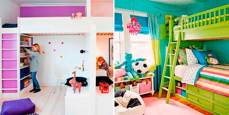 Идеи детской комнаты для мальчика и девочки – фото