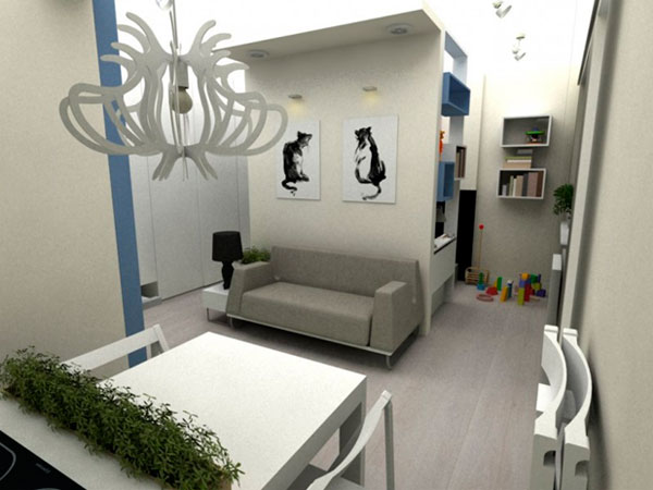 Идеи дизайна для однокомнатной квартиры 30 кв. м