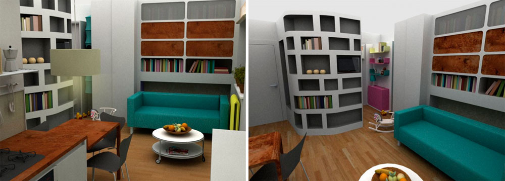 Design ideas for one-bedroom apartment