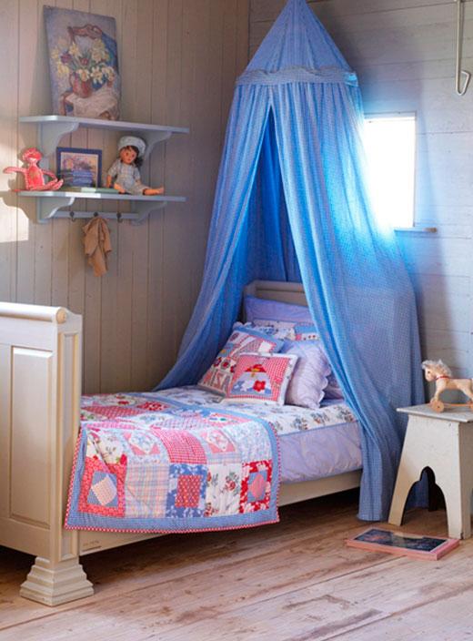 Детская для девочки в стиле прованс: текстиль и аксессуары