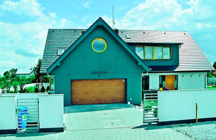 Цементно-волоконная отделка фасада дома